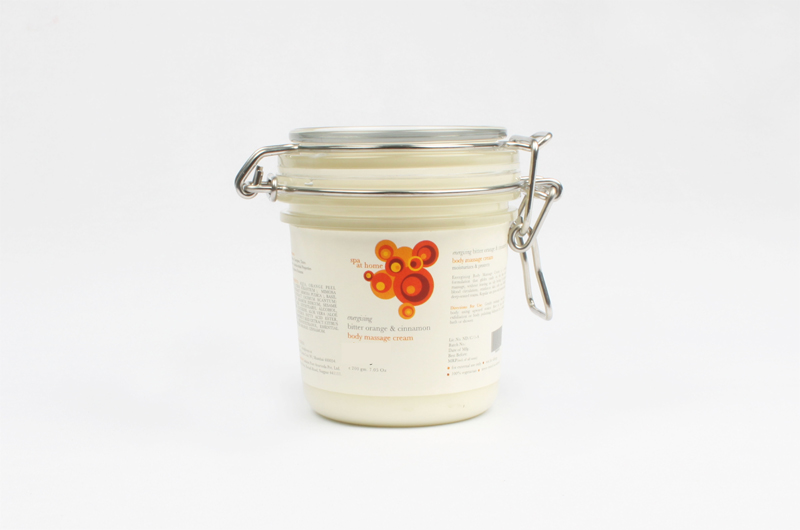 Energizing massage cream